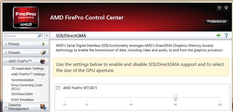 DirectGMA enable