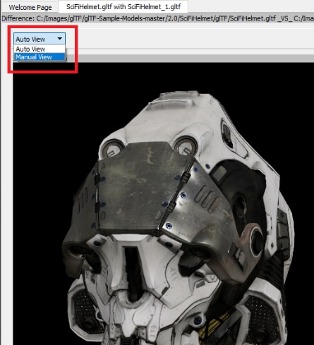 3D Model Diff View Panel