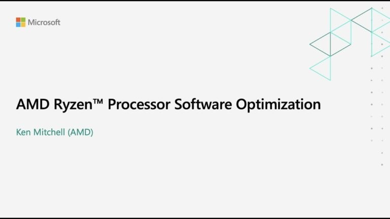 Ryzen processor software optimization