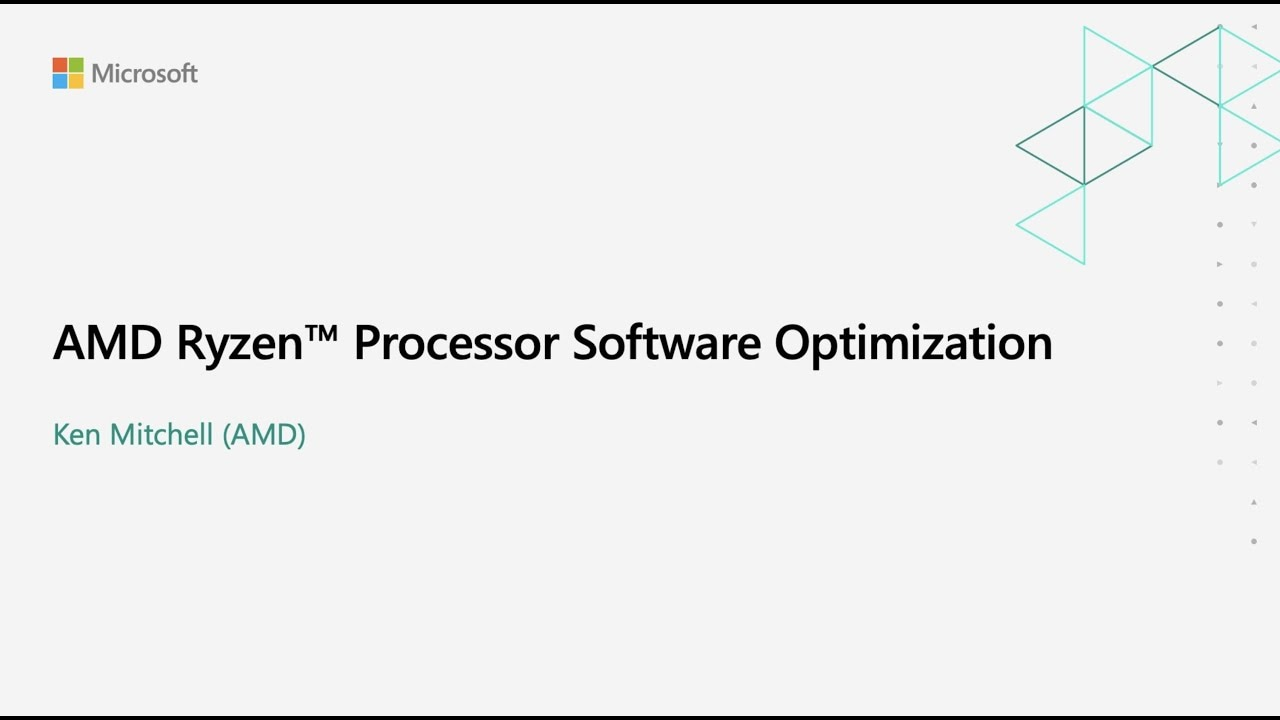 Ryzen processor software optimization