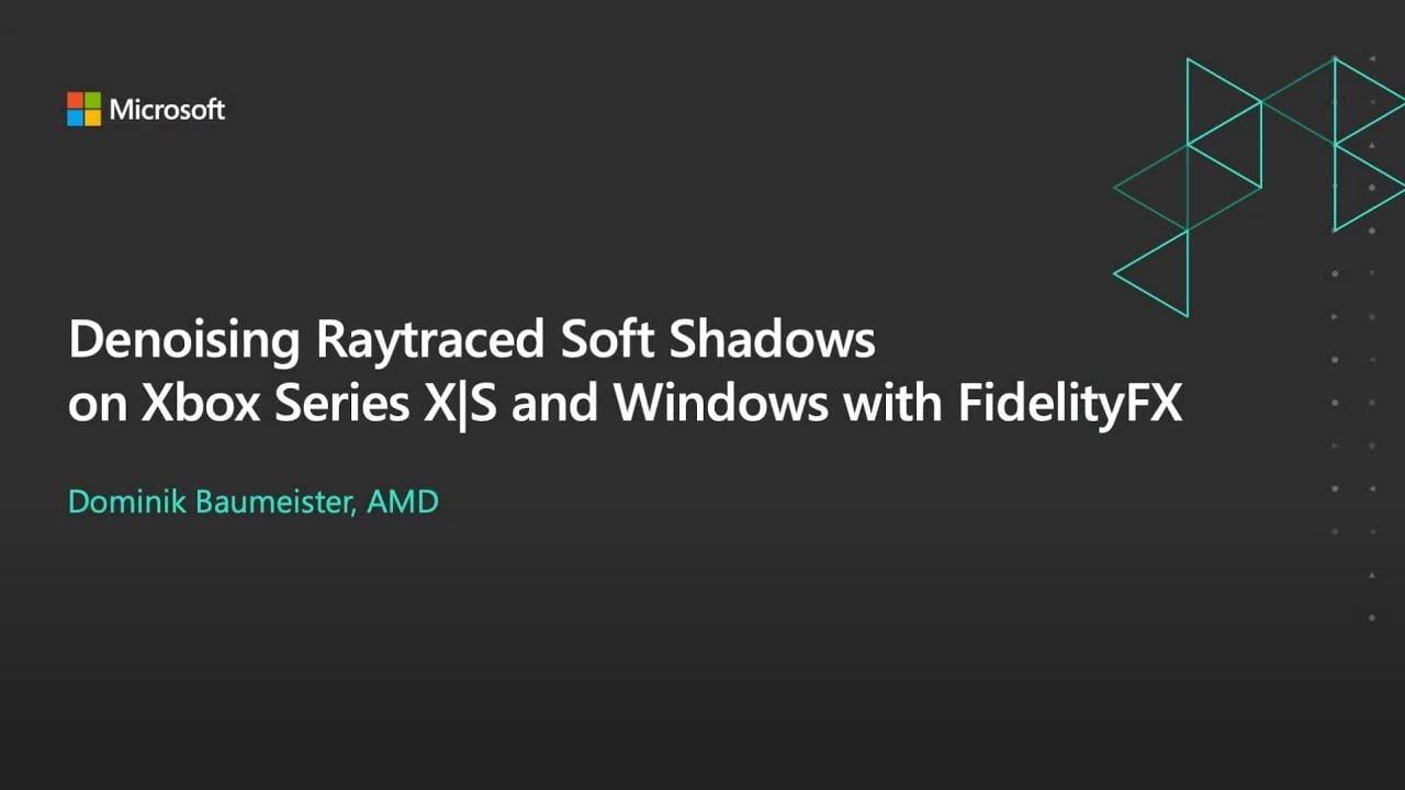 Denoising ray traced soft shadows