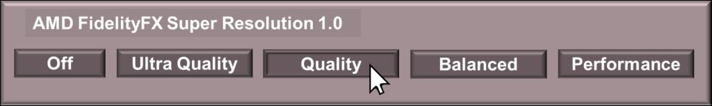 Example FSR Game UI